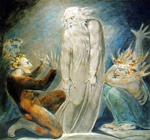 The Witch of Endor Raising the Spirit of Samuel (Blake 1783)