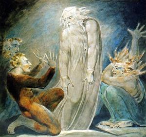 The Witch of Endor Raising the Spirit of Samuel (Blake 1783)