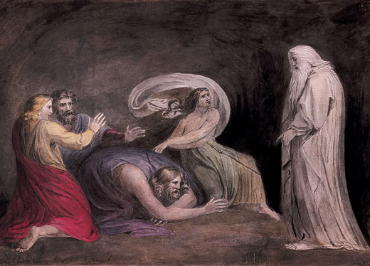 Samuel Appearing to Saul (Fuseli 1777)