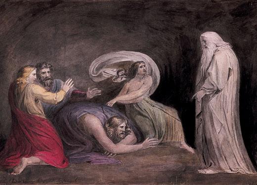 Samuel Appearing to Saul (Fuseli 1777)