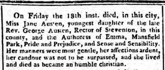 jane-austen-obituary-salisbury-and-winchester-journal-monday-28-july-1817